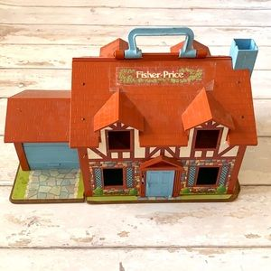 Vintage Fisher Price Little People Play House 1980